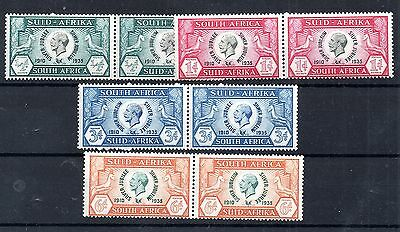 South Africa KGV 1935 Silver Jubilee mint LHM pair set SG65-68 WS4529