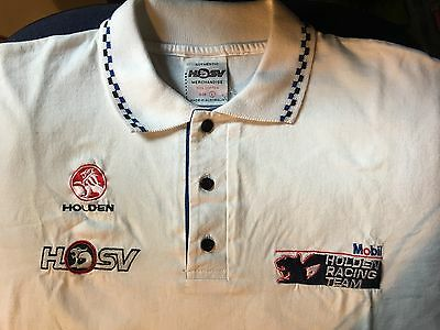 Signed Peter Brock Holden HSV Racing Team Shirt