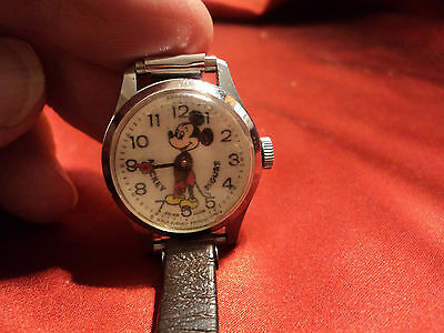 Vintage Swiss Made,Mickey Mouse Bradley Watch, #27 Walt Disney Productions