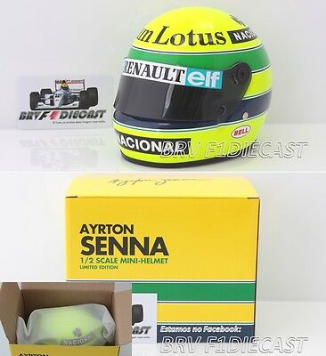 1/2 Scale Helmet Ayrton Senna Lotus 97T F1 1985 - Near sold out - Final Stock