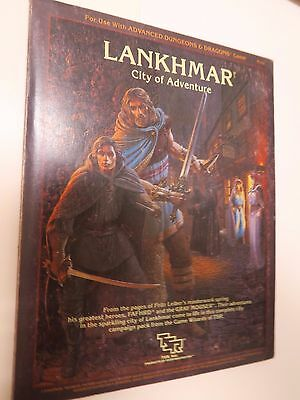 "TSR advanced dungeons & dragons LANKHMAR series ""city of adventure - game module"