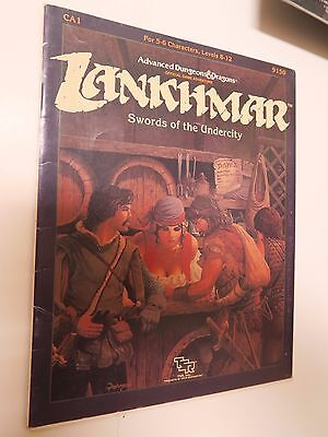 """AD&D dungeons & dragons LANKHMAR  """"Swords of the Undercity """" game module"""