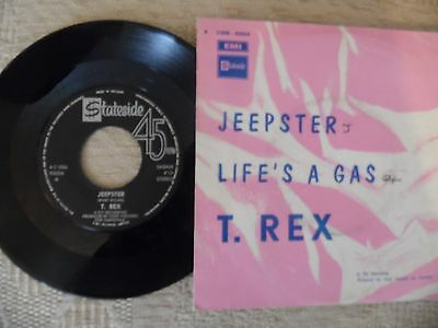 T.rex Single.jeepster/lifes A Gas.belgium Original.stateside.1971.