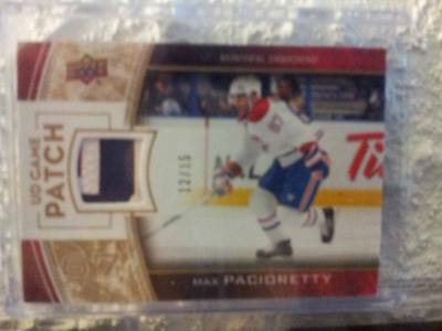 2013 14 Ud Game Patch Max Pacioretty 3 Colors /15 Montreal Canadiens