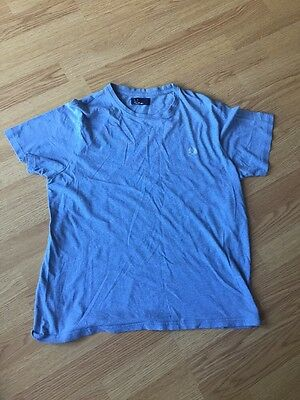 Fred Perry Men's Large Blue T Shirt