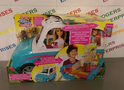 Barbie & Her Sisters In A Puppy Chase Ultimate Puppy Mobile Vehicle- NEW & Boxed