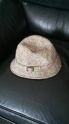 Vintage Dunn & Co Harris Tweed Hat Size 7 1/4in  59cm