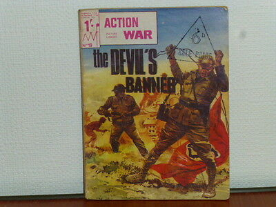 """AN ACTION WAR (picture library comic)No.19. """"THE DEVILS BANNER""""1966,VGC.   (K)"""
