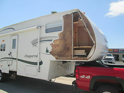 2002 Coachmen Chaparral 281bhs 5th wheel rv damaged camper project