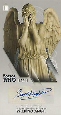 """Doctor Who Widevision: Silver S L Madison """"Weeping Angel"""" Autograph Card #07/10"""