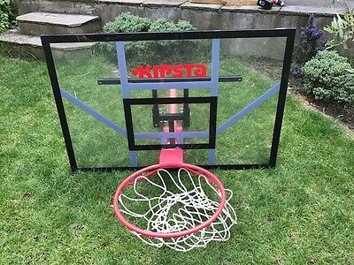 Basketball hoop, backboard and wall attachment