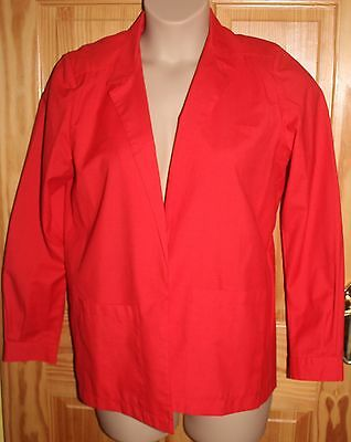 Vintage Mandy Marsh unlined red long sleeved jacket size 14