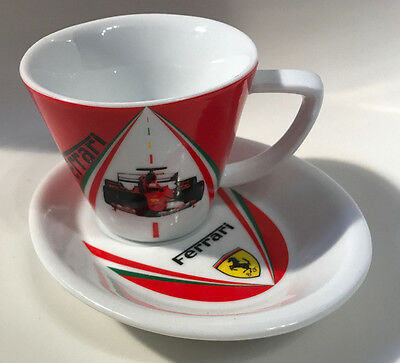 Ferrari F1 Espresso Coffee Demitasse Cup Saucer WORLD CHAMPIONS Official EUC