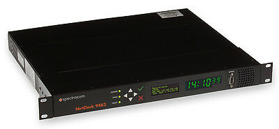 Spectracom 9483 NetClock GPS NTP Time Server OCXO w/ Triple Ethernet Card & NENA