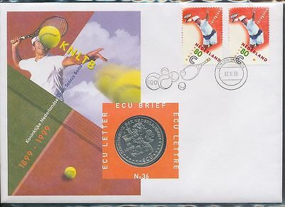 Netherlands 1999 Tennis Federation COIN Cover Au8179