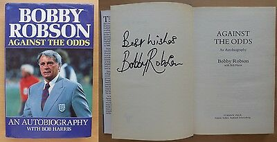 Bobby Robson Against The Odds Signed Autobiography - Newcastle & England (11033)