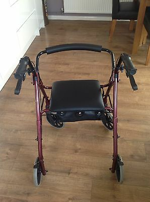 Days Lightweight Rollator Disability Mobility Walker Frame Seat