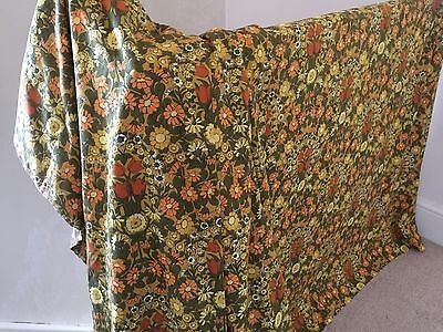 Vintage Daisy Chsin Curtains/Fabric-Large Pair-Cotton-VGC