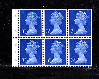 GREAT BRITAIN #MH36c  3P  B/P OF 6  MINT  VF NH  O.G