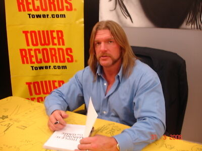 Triple H WWE WWF Signed Autographed Book - Making the Game