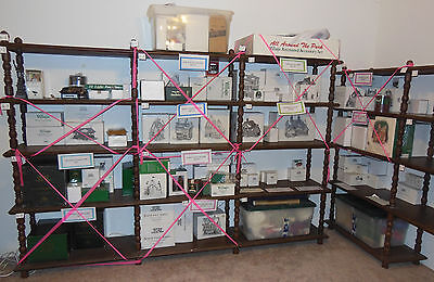 Dept 56 Collection, 74 Pcs Total, 25 Buildings, 49 Accessories, In Boxes