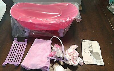 Beverly Hills Hot Pink Bathtub And Shower Set With Accessories, For 18 Inch Doll