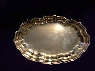 """Vintage  Sterling Silver Frank Smith """"chippendale""""  10"""" Oval Tray 197"""