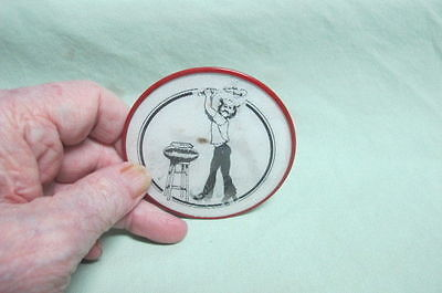 vintage pinback button vari vue  Comic Gallagher Smashing Watermelons