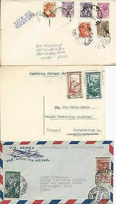 Italy six covers and cards - one OLYMPICS - 1932 to 1962