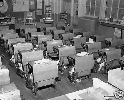 Photo: Children at Brooklyn Elementary School Practice Bomb Drill Cold War 1951