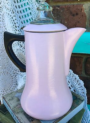 VINTAGE Shabby Chic Stovetop COFFEE PERCOLATOR With GLASS DOME LID 1940s