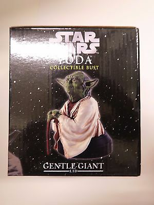 Star Wars YODA Gentle Giant Mini Bust With COA and box