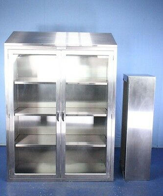 2011 Getinge TORSC48 Stainless Steel Medical Instrument Cabinet with Base