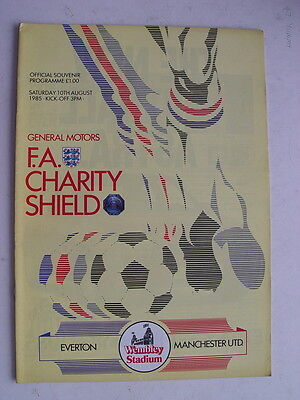 Everton v Manchester United 1985 Charity Shield