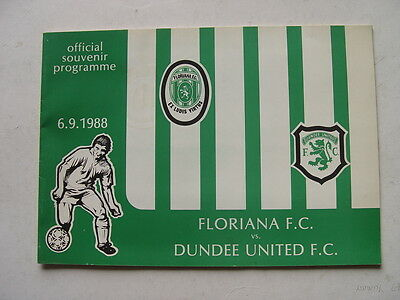 Floriana v Dundee United 1988/89 Cup Winners Cup
