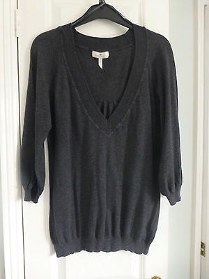 Ladies/girls long grey jumper, size 10, River Island, fine knit
