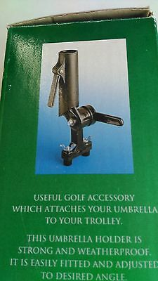 Golf Trolley Umbrella Holder.