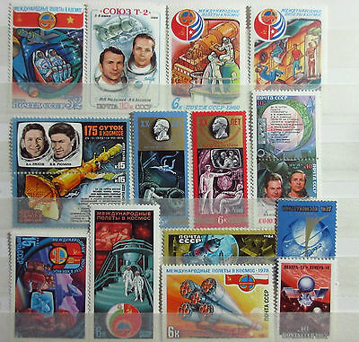 Russia 16 Space Stamps. All MNH.