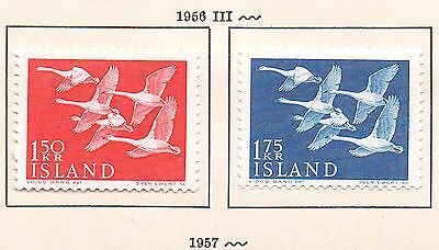 ICELAND. 1956.  Nordic Day set. Mounted Mint. SWANS.