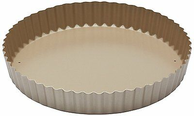 Paul Hollywood by KitchenCraft Non-Stick Fluted Tart Tin / Quiche Pan with Loose