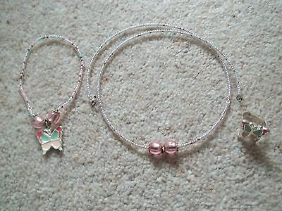 Young Girls Accessorize Jewellery - Butterfly Ring, Bracelet & Necklace