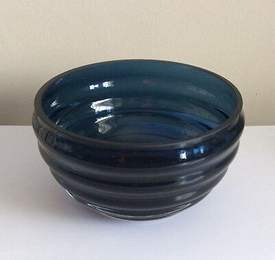 Dartington Glass Wibble Bowl-Cobalt Blue