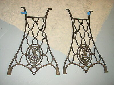 Antique Singer Treadle Sewing Machine Cast Iron Base Stand Table Legs
