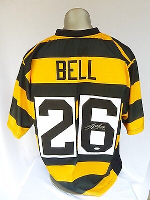 Leveon Bell Signed Football Jersey Pittsburgh Steelers Bumble Bee JSA COA