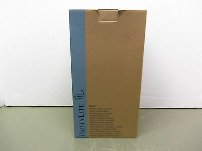 PARTYLITE Reflective Silver Hurricane Lamp P91207 - BN In Box -