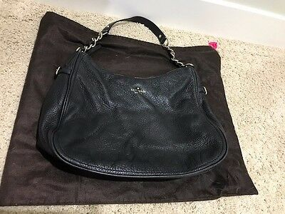 Kate Spade Cobble Hill Leather Finley Hobo Shoulder Bag Purse BLACK