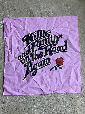 Willie Nelson Family Bandana On The Road Again Waylon July 4th NEW Texas Vintage