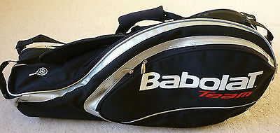 Babolat Team tennis racket bag black white and red with insulated pocket
