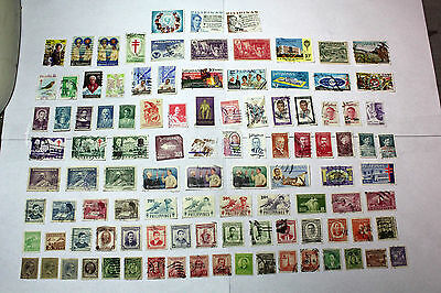 Lot of 100 Philippines  Postal  Postage Stamps Mixed  Collection  PHIL004