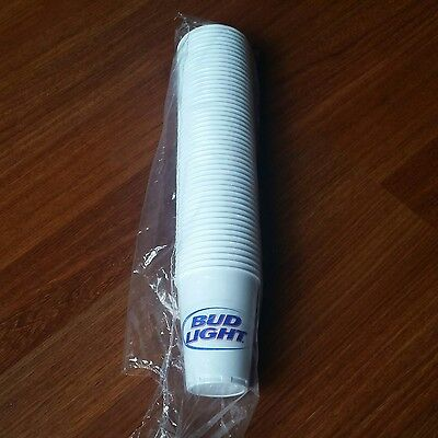 Bud Light Busweiser 12 oz Plastic Cups 50 pack Authentic New Disposable